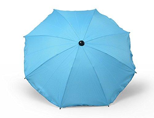 Sombrilla y paraguas universal para carros y sillas de bebé, con soporte universal, protección contra rayos UV 50+ turquesa