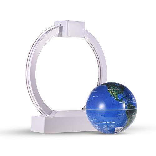 ZOMINMMB drijvende bol met magneetzweefbaan, 6 inch (6 inch) zwevende bol in O-vorm met cirkelvormige LED-kleurlichtbasis voor decoratie thuis, voor kinderen, educatief geschenk