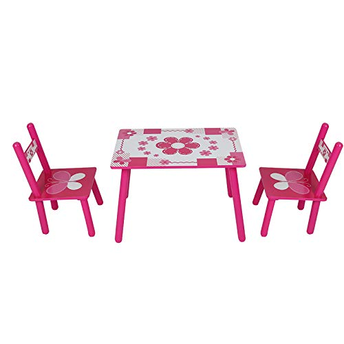 Trintion Childrens Table And Chair Set Wooden Garden Table Children Wooden Table And Chair Set (1x Table And 2x Chair)