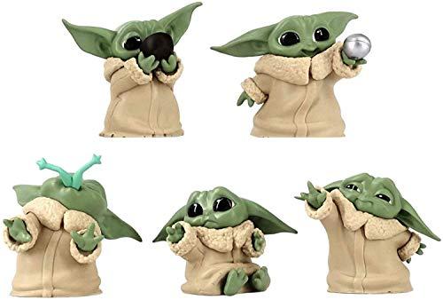 U/D The Mandalorian Baby Yoda - Pack de 5 adornos para niños, diseño de escultura interesante