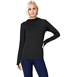 Activewear Women's Hooded Running Top, Black, Small