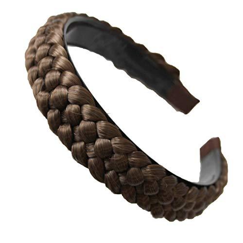 PRETTYSHOP Haarreifen Zopf Geflochten Haarteil Haarband Kopfschmuck Haarschmuck Hellbraun HR8