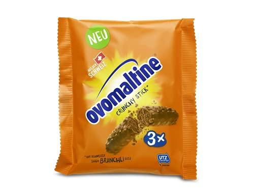OVOMALTINE Crunchy Stick Schoko-Riegel aus Schweizer Vollmilch Schokolade mit Ovomaltine-Creme, Reiscrispies und feinstem Kakao-Pulver, nachhaltig und UTZ-zertifiziert (3 x 22g 66 g