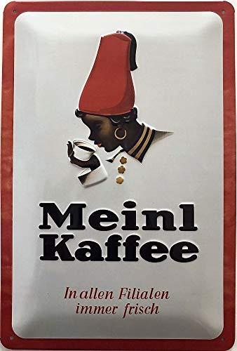 Deko7 blikken bord 30 x 20 cm Vintage reclame - Meinl koffie Classic