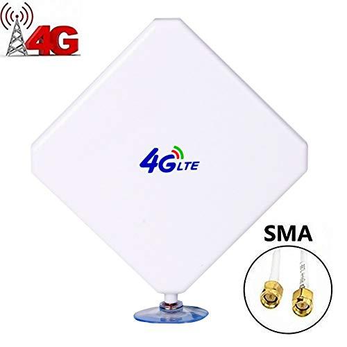 35dbi Antena 4g LTE De Alta Ganancia gsm, Antena SMA, Amplificador De SeñAl WiFi Antena con Cable Conector SMA para Hotspot MóVil (Conector SMA)
