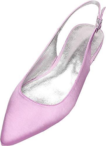 Zapatos planos de ballet para mujer con punta de dedo del pie...