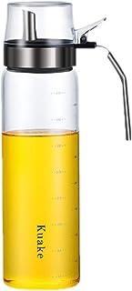 UPKOCH Oil Dispenser Bottle Olive Oil Vinegar Dispensers 500ml Anti Leak Glass Soy Sauce Container Salad Dressing Containe...