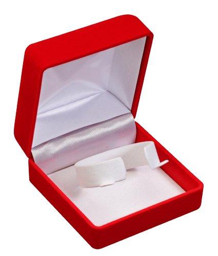 Optima 32-10610 - Caja para reloj (flocado), color rojo