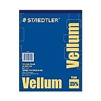 Staedtler Mars Vellum Pad, 16 lb., 50 Sheets, 8-1/2x11 (STD946T811) by Staedtler