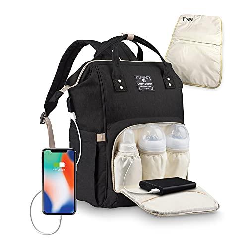 Baby Wickelrucksack Wickeltasche, Multifunktionale Wasserdichte Babytasche für Mama und...