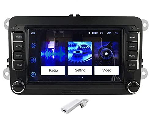 GOFORJUMP 2 DIN Android 7'Navigazione GPS Autoradio Radio Supporto Lettore multimediale Funzione Mirror Link per iOS per Bora Golf V/W P/Olo V/olkswagen Passat B6 B7 Touran