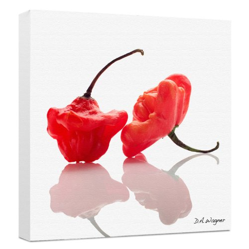 Somerset Fine Art Apple Peppers Photograph by David Wagner, Gallery Wrapped on 2-Inch Bars