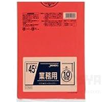 カラーポリ袋(10枚)赤 145-811