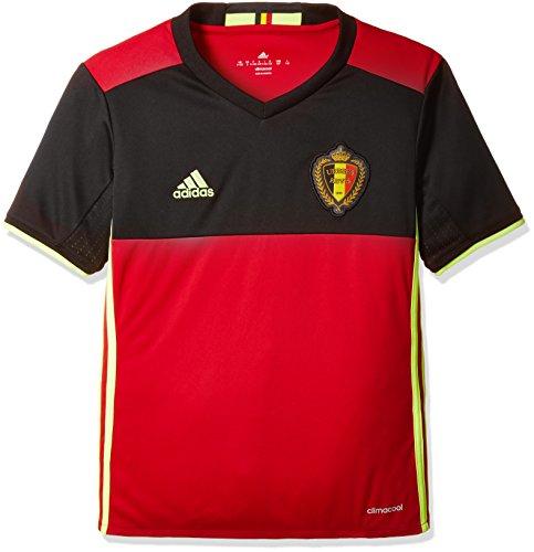 adidas Jungen Trikot Uefa Euro 2016 Belgien Replica Heim, Scarlet/Black/Solar Yellow, 152