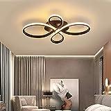 リモコン付き 無段階調光 LEDシーリングライト 照明器具 天井照明 間接照明 おしゃれ 北欧 シーリングライト 8畳 和室 ダイニング リビング 居間用 寝室用シーリングライト 42W (コーヒー色,60 38 8.5CM)…