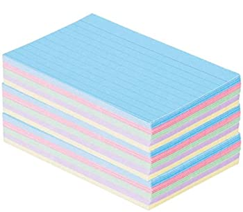 1InTheOffice Index Cards 3 x 5 Ruled Pastel Colored Assorted 300/Pack