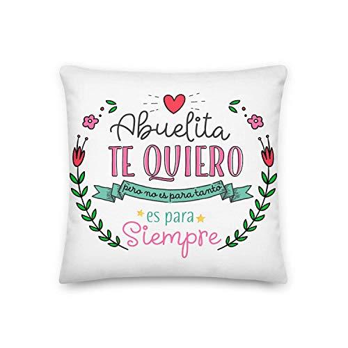 GS1 Honduras Kembilove Cojín para Abuela – Regalos Cojines Mujer Cumpleaños Abuelas – Regalos Originales Cojines con Mensaje Abuelita te Quiero Regalo día de la Madre