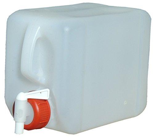 2X 10L Kanister Wasserkanister+ 1 Auslaufhahn lebensmittelecht