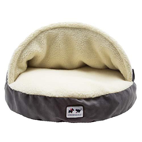 WLDD Pet Bed, Soft und Warm Pet Cave, Katze und Hund Universal, Groß, Mittel, Grau (Farbe : Gray, größe : M)