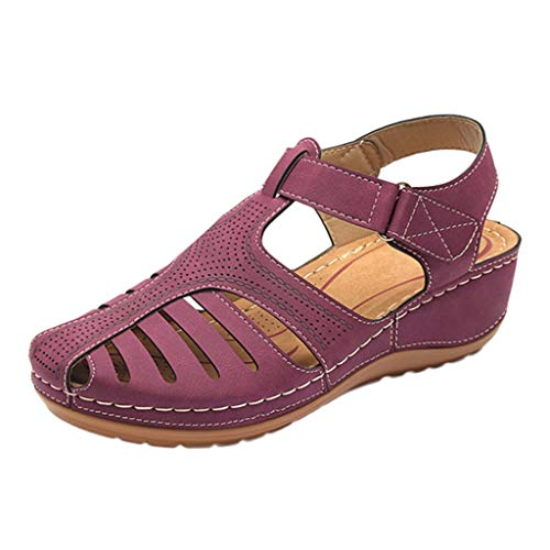 Amazing Deal kaifongfu Womens Girls Dress Sandals Comfortable Hollow Out Round Toe Sandals Soft Sole...
