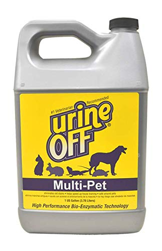 Urine Off MR1008 Pets Urine Stain Remover, Premium Stain and Odor Technology, Multi-Pet, Gallon Jug