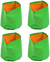 ROCHFERN HDPE Grow Bags 14x9 inches Strong and UV Stabilized Terrace Gardening Vegetable Plants and Gardening Flower Plant -Four Nos