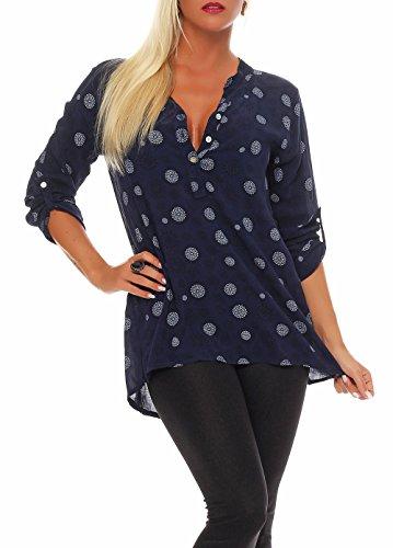 Malito damska bluzka z nadrukiem | tunika z rękawami ¾ | bluzka z długim rękawem | elegancka - Shirt 6703