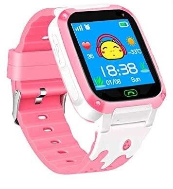 Kinderuhr Mädchen Digital Smart Watch LBS Telefon Rosa Smartwatch Mit Spiele Kinder Handy Kinderuhr Anruf Funktion Schrittzähler Pink Kindertelephon Mit SIM Kart Für Klein Kinder (Q9 Pink LBS)