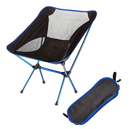 MEIMING Camping Ultralight Klappstuhl Travel Portable Ultralight Superhard Hochlast-Strandpicknickplatz Im Freien Blau
