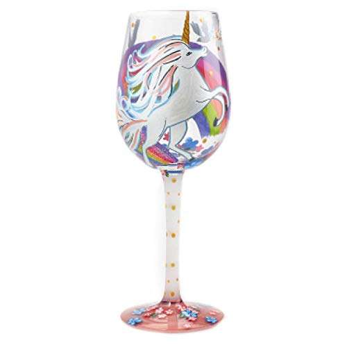 Lolita Copa de vino artesanal 'Licorne Mania'multicolor - 21.5 cm.