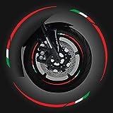 4R Quattroerre.it 10398 Wheel Rim Tiras adhesivas para Llantas Moto Kit Componible Rojo, Italy