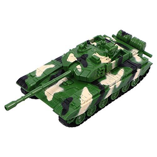 TOYANDONA 1 juguete de tanque de ejército, modelo de tanque militar para niños (verde)