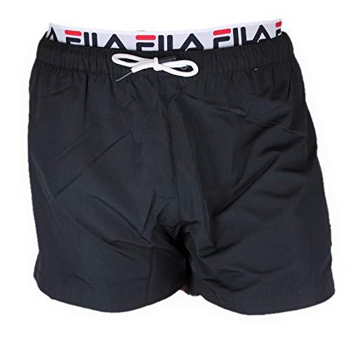 FILA Badehose Herren RYOTA Swim Shorts 687742 002 Black Schwarz, Größe:XXL