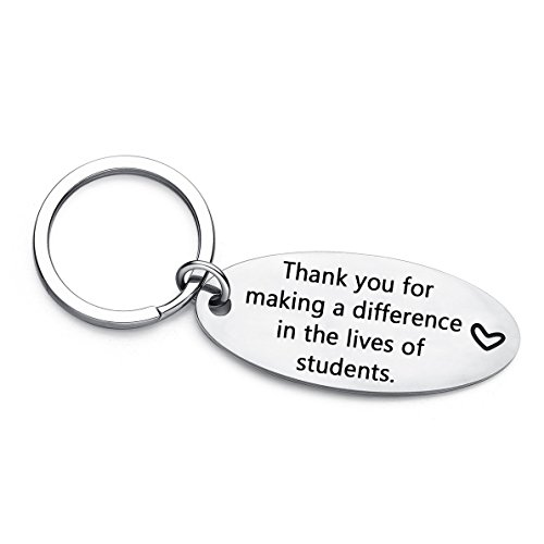Teacher Appreciation Gifts Keychain, Show Your Teachers Appreciation, Teacher's Day Key Chain Gifts from Student (Making a Difference)