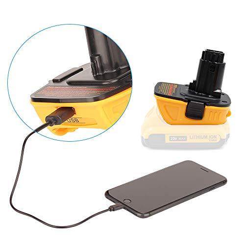 Product Image 2: DCA1820 Battery Adapter for Replace Dewalt 18V to 20V Tools Convert for Dewalt 18V NiCad & NiMh Battery Tools DC9096 DW9096 DC9098 DC9099 DW9099(USB Converter) (1 Pack)