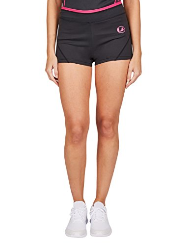 Ultrasport Damen-Funktions-Sport-/Fitness-Pants mit Quick-Dry-Funktion, Schwarz/Pink, L