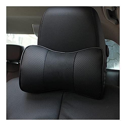 Almohada para el cuello del coche 2 PCS Cuero genuino Negro Asiento de coche Rest Cojín Almohadilla Reposacabezas Cuello de Cuello Cuello Personal Logotipo Compatible con Jaguar Tesla Opel BMW Audi Be