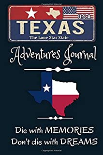 Texas Adventures Journal: The Forests are Calling | Compliment Travel Guide & Camping Prompt Book | Record Campsite Lakes ...