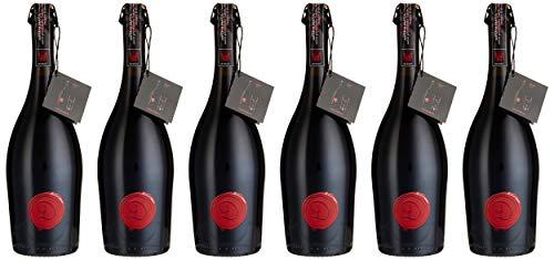 Castle of Dracula Marsecco Red delle Venezie IGT Vino Frizzante Semisecco 2018 , 6er Pack (6 x 750 ml)