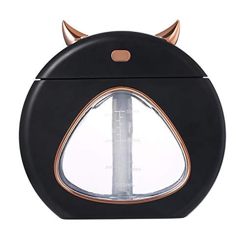 Luchtbevochtiger aromatherapie aromatherapie lamp slaaphulp nachtlicht mini huis tafel luchtbevochtiging USB auto kantoor schoonmaken kleine luchtbevochtiger wit 139 * 58 * 131 mm zwart