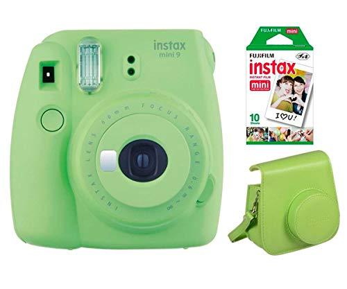 Kit Fujifilm Instax Mini 9 Lime Green (Camara+Funda+10pk)