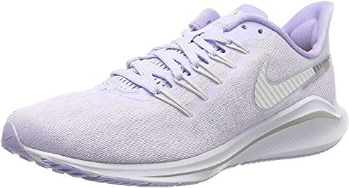 Nike Wmns Air Zoom Vomero 14, Zapatillas de Running para Asfalto Mujer, Multicolor (Amethyst Tint/White/Purple Agate 500), 40.5 EU