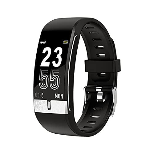 Pulsera inteligente de la temperatura corporal de la pantalla a color, reloj inteligente para la salud compatible con Android iOS (negro)