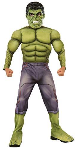 Rubie's-déguisement officiel - Marvel- Déguisement Pour Enfant Luxe Hulk Avengers 2 - Taille L- I-610429L