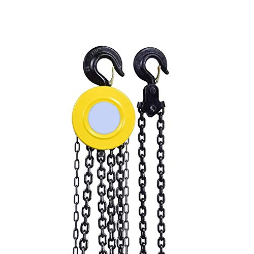 HLWAWA Alzamiento manual de la cadena de la cadena de bloques de la cadena, el polipasto...