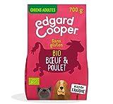 Edgard & Cooper - Pienso 100% biológico para Perro Adulto sin Gluten, nutrición Natural, 700 g, Bebida orgánica Fresca, alimentación Sana Sabrosa y equilibrada, proteínas
