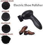 Elektrischer Schuhputzer, tragbare wiederaufladbar Schuh Polierer Pinsel Lederbürste Leder Schuhe Polieren Schuhpflege Bürste Schuhputzkiste Reinigungsbürste Elektrische Schuhbürsten