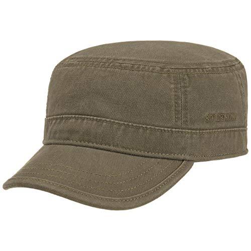 Stetson Gosper Army Cap Damen/Herren - Urban Armycap aus Baumwolle - Militärcap mit UV-Schutz 40 - Mütze Militär Sommer/Winter Oliv S (54-55 cm)