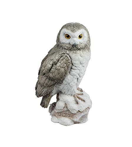 Eule Schleiereule Uhu Kauz Deko Garten Vogel Tier Figur Skulptur Schneeeule