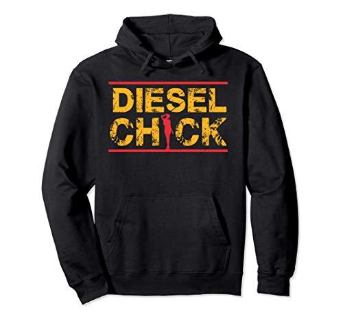 Women Diesel Chick, Truck Driver, Petrolhead Felpa con Cappuccio